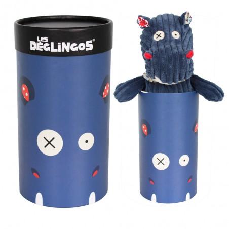 Peluche hippipos l'hippo dans sa boite