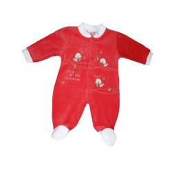 Pyjama bébé noël oiseaux qui chantent