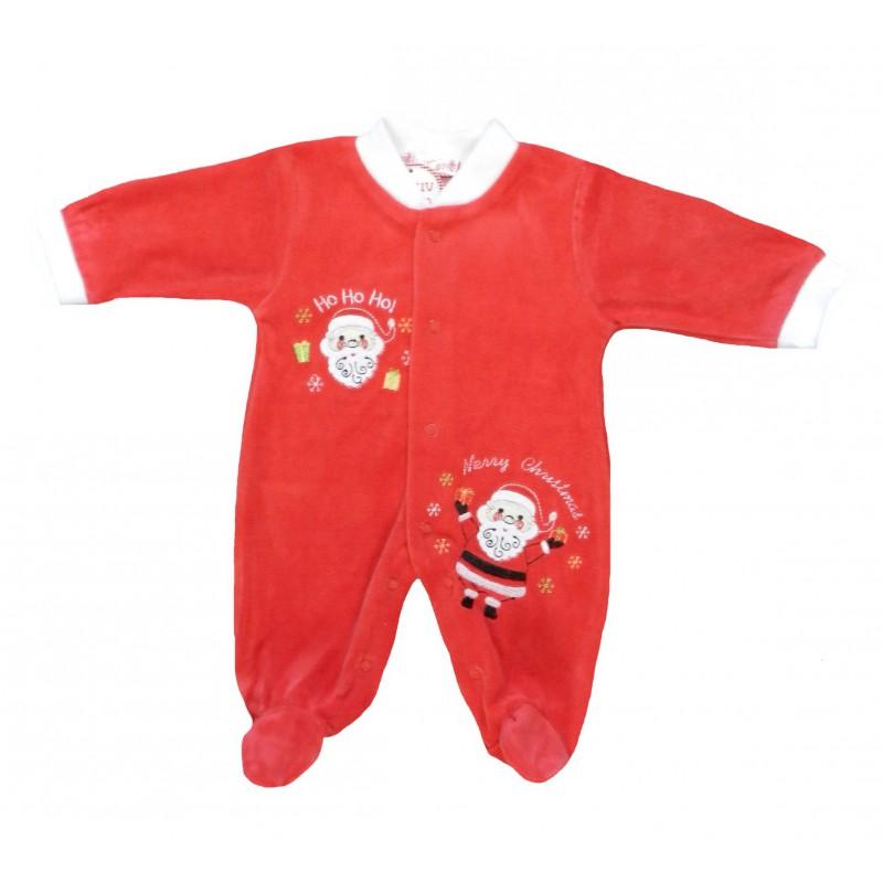 Pyjama bébé noël velours rouge