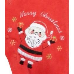 Père noël et écriture Merry Christmas sur pyjama bébé noël