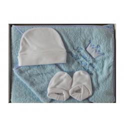 Coffret bain bébé bleu et ses accessoires je suis un petit prince