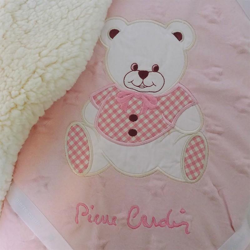 Couverture bébé rose Pierre Cardin