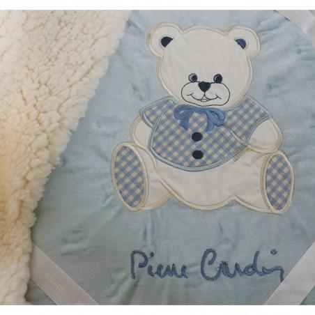 Couverture bébé bleu Pierre Cardin