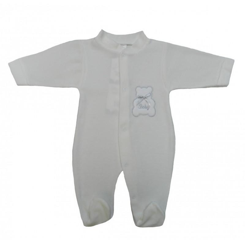 Pyjama bébé mixte, motif ourson sur la poitrine