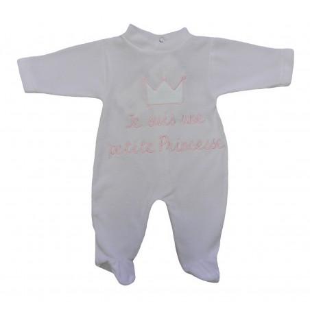 Pyjama bébé fille rose, je suis une petite princesse