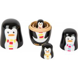 famille pingouin à empiler