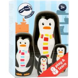 Boite de poupées russes famille pingouin