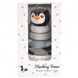 Boîte emballage pyramide Pingouin à empiler