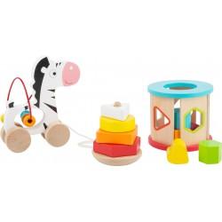 Lot jouets de motricité en bois