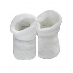Chaussons j'aime tata blanc