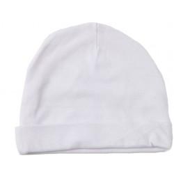 Bonnet naissance coton blanc