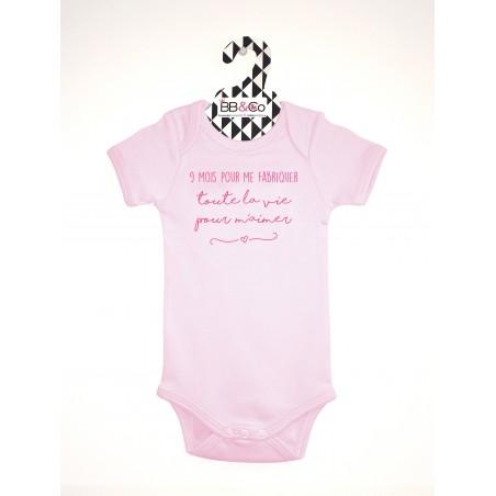 Body bébé fille rose