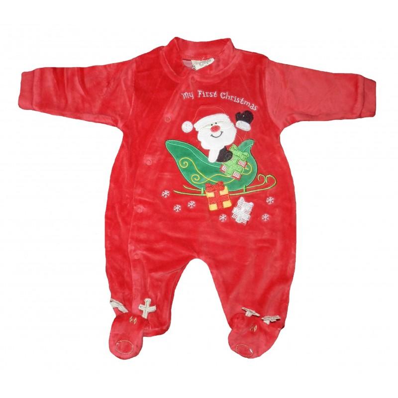 Pyjama bébé velours père-noël