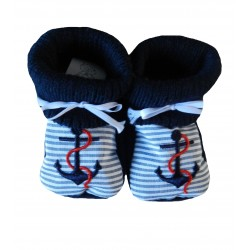 Chaussons naissance ancre marine