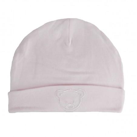 Bonnet naissance rose 100% coton