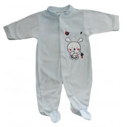 Pyjama bébé bleu motif lapin