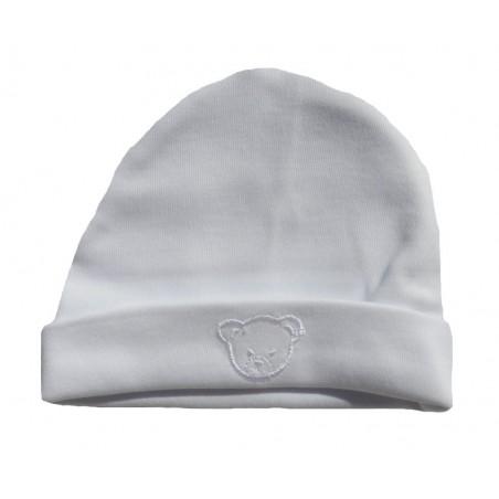 Bonnet naissance blanc