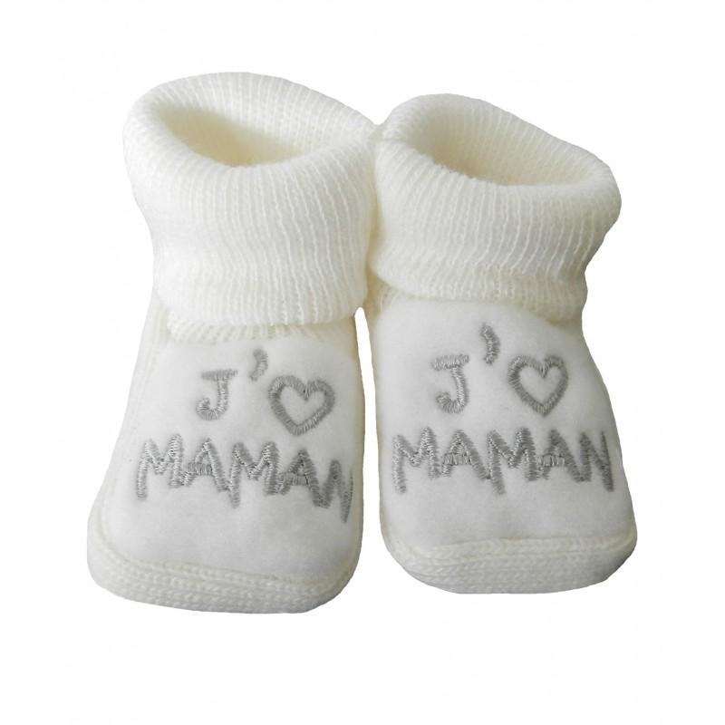 a1867502c49a3 Maman sera fière de voir son futur bébé porter ces petits chaussons blanc