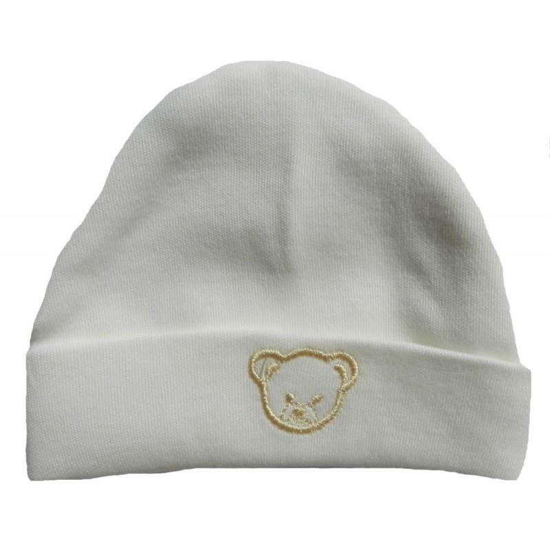 Bonnet naissance beige