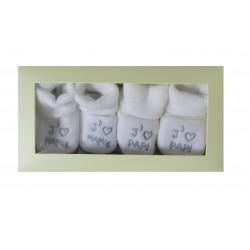 Coffret naissance chaussons