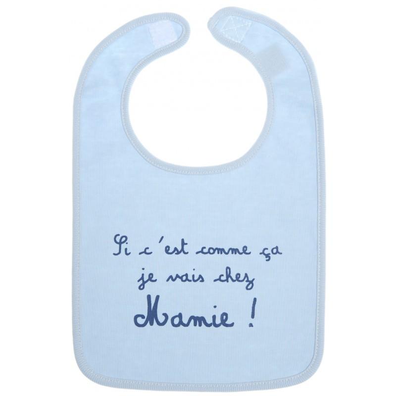 Bavoir bébé humoristique bleu
