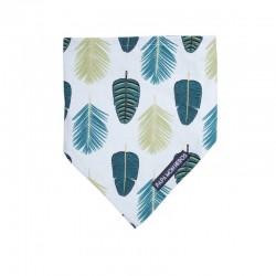 Bavoir bandana motif feuille