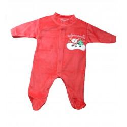 Pyjama velours bébé noël