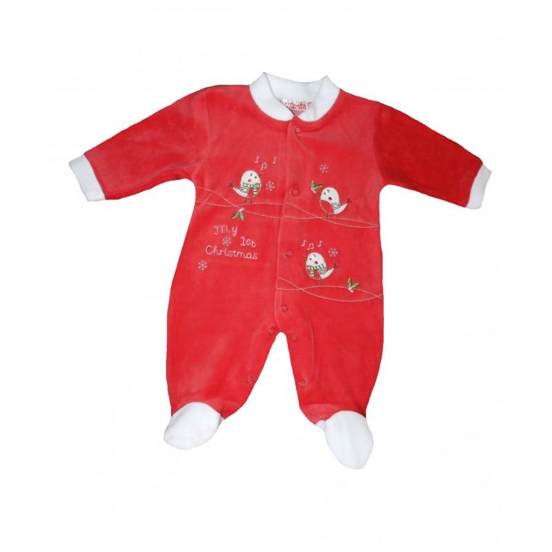 Pyjama bébé noël oiseau qui chante