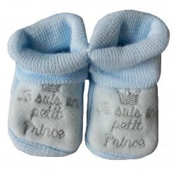 Chausson naissance bleu je suis un petit prince