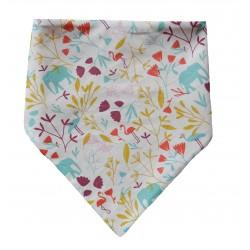 Bavoir bandana motif exotique fait main en France