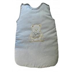 Gigoteuse gris clair ourson avec motifs lune et étoiles blanches