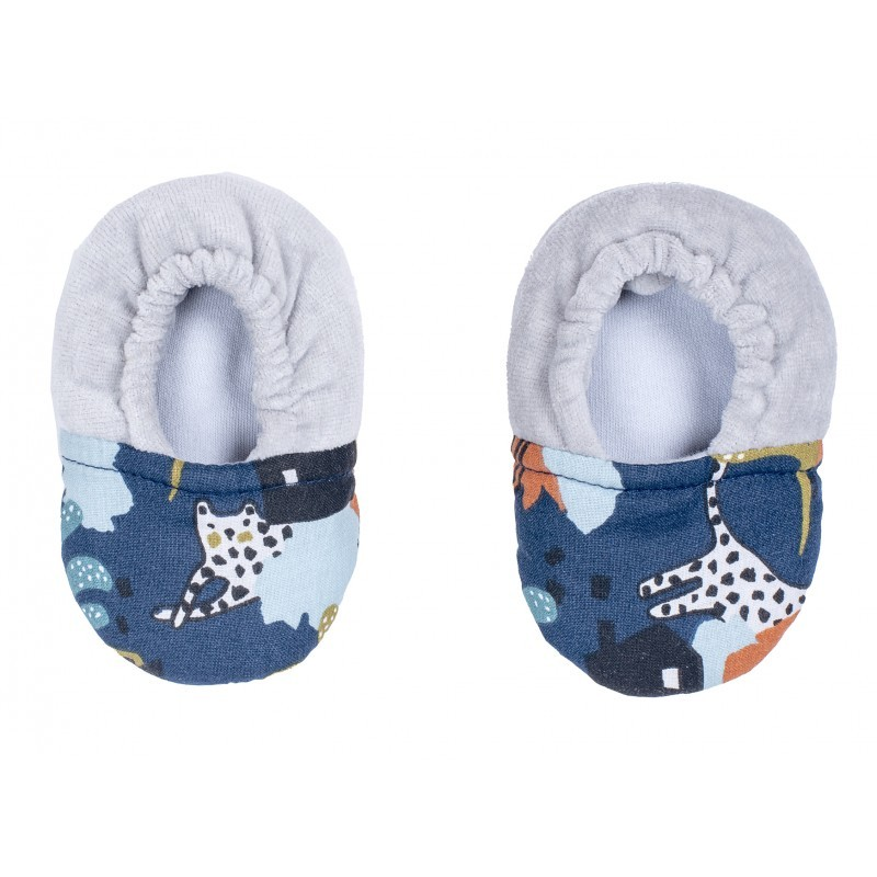 Chaussons bébé bi-matière savane
