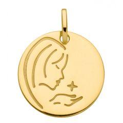 Médaille pour baptême La vierge
